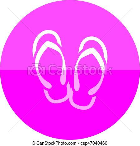 Sandal clipart slipper Slipper sandal Vector Circle Clip