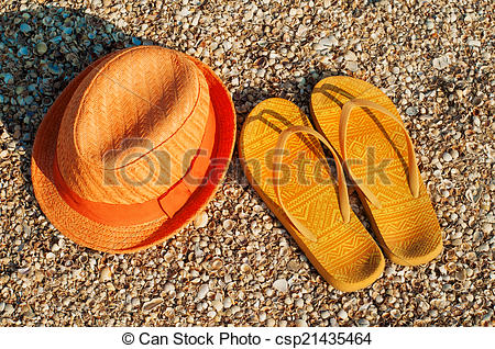 Sandal clipart summer hat Hat Image Bright at and