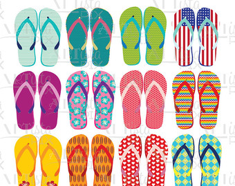 Sandal clipart summer thing Art Clipart flop Etsy sandals