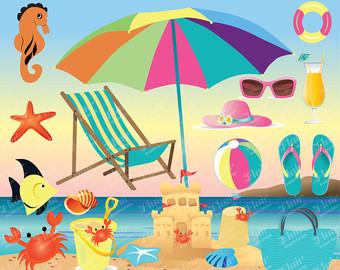 Sandal clipart summer vacation #8
