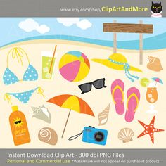 Sandal clipart summer vacation #9