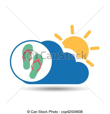 Sandal clipart summer vacation #4