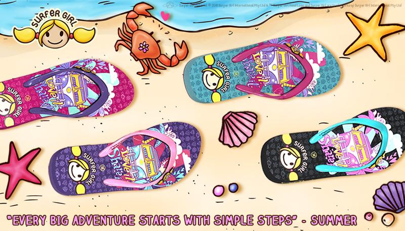 Sandal clipart surfer Girl! Girl nih smiley koleksi
