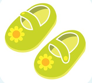 Sandal clipart yellow shoe #3