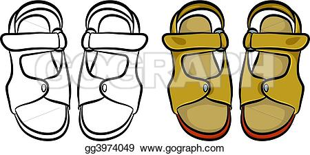 Sandal clipart yellow shoe #6