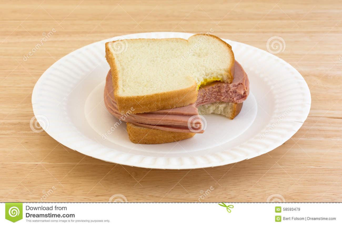 Sandwich clipart bitten Large clipart sandwich Bologna Bitten
