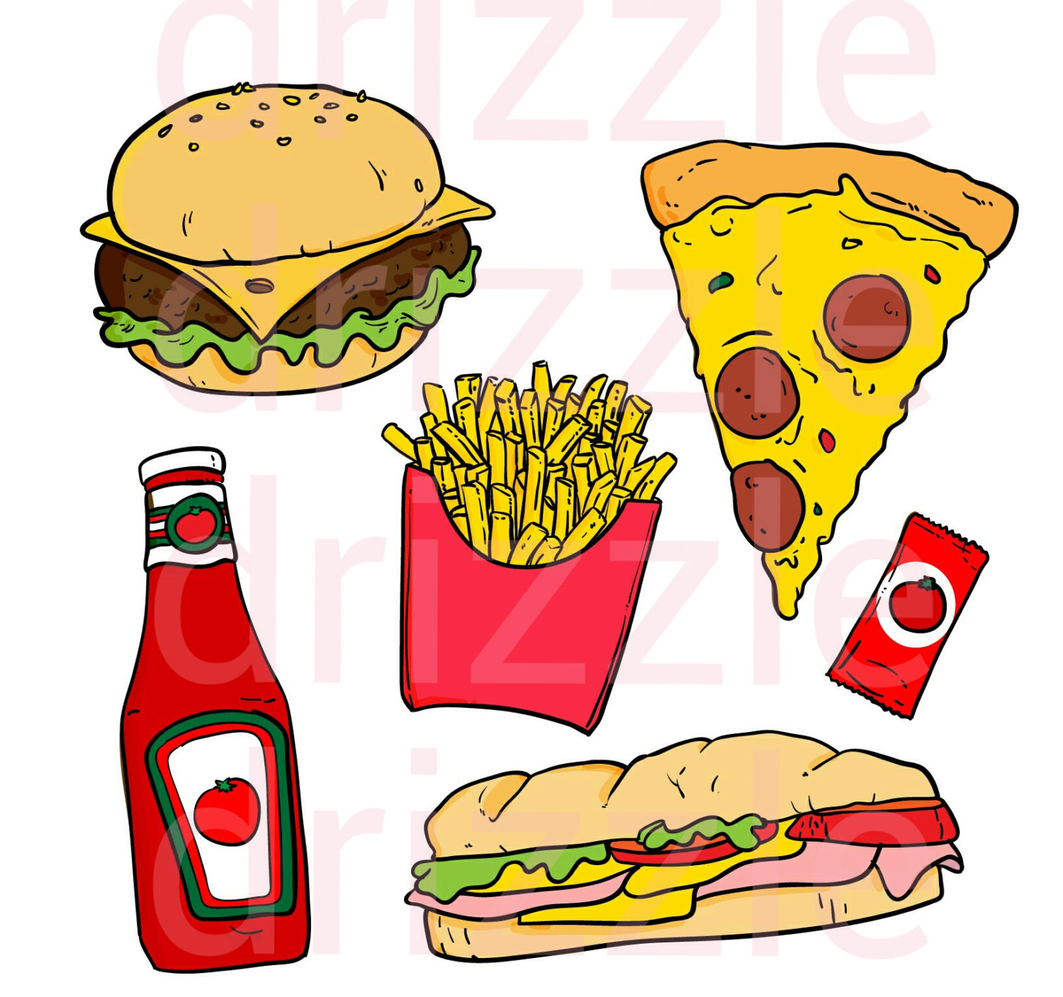 Sandwich clipart food item Food  food on stickers