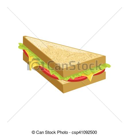 Sandwich clipart food item Detailed Triangle Item Menu Triangle