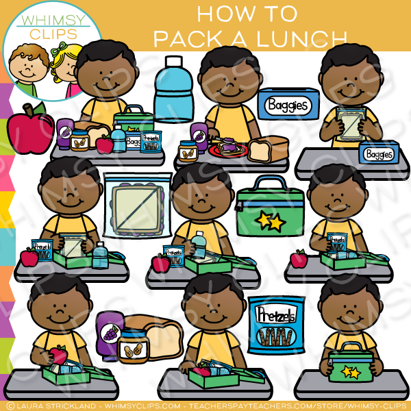 Sandwich clipart packed lunch A to Illustrations Clip Lunch
