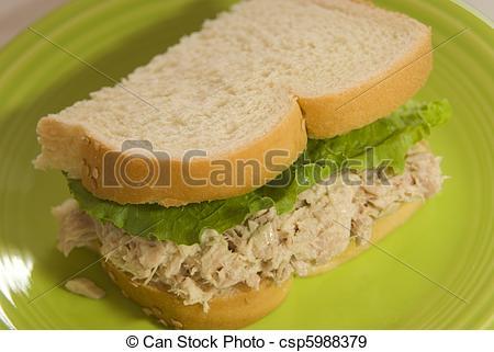 Sandwich clipart tuna sandwich Half salad of with of