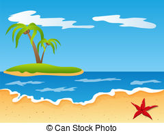 Sandy Beach clipart pirate island Design of Beach of Caribbean