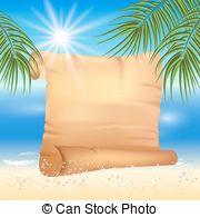 Sandy Beach clipart pirate island Sun Clip in trees beach