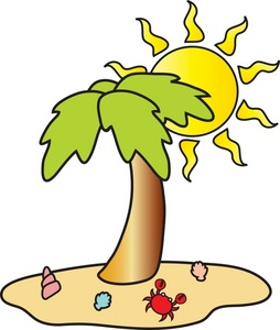 Palm Tree clipart tropical scene Beach with with Image Beach
