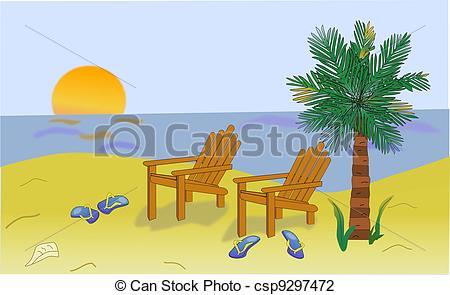 Sandy Beach clipart beach scenery Scene Beach computer Scene generated