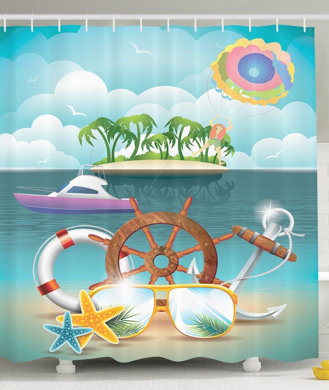 Sandy Beach clipart island Nautical Vacation  Summer Tropical