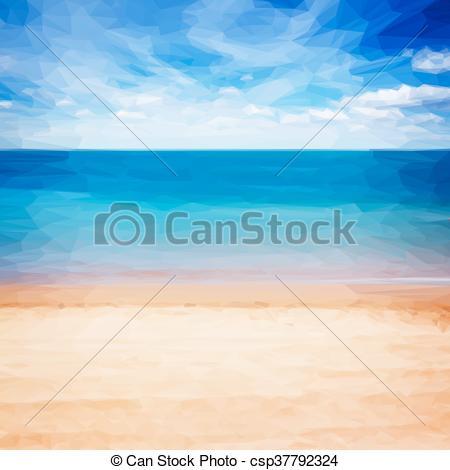 Sandy Beach clipart Shore Low shore  retro