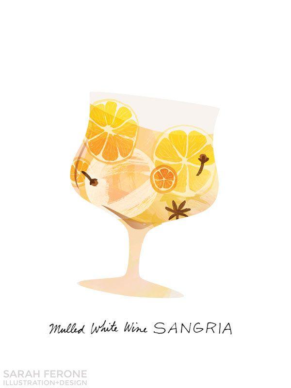 Sangria clipart cocktail hour Behance best Motifs: Sarah Happy