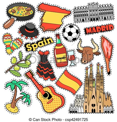 Sangria clipart doodle Badges Patches and Illustration Sangria