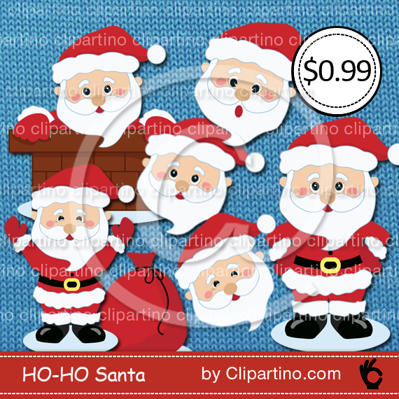 Santa clipart clous #12