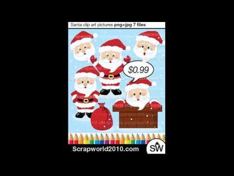 Santa clipart clous #7