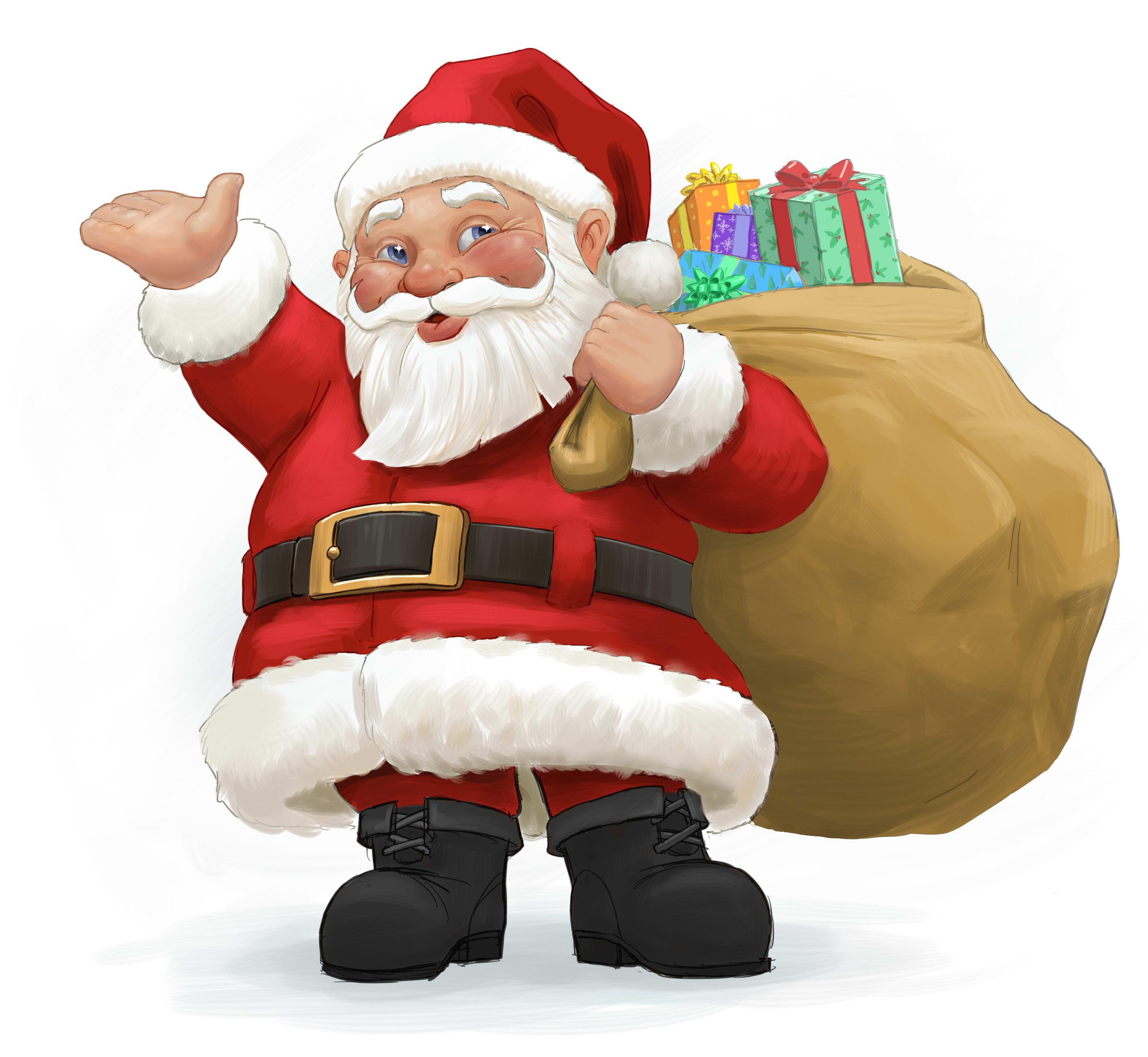 Santa clipart clous #15