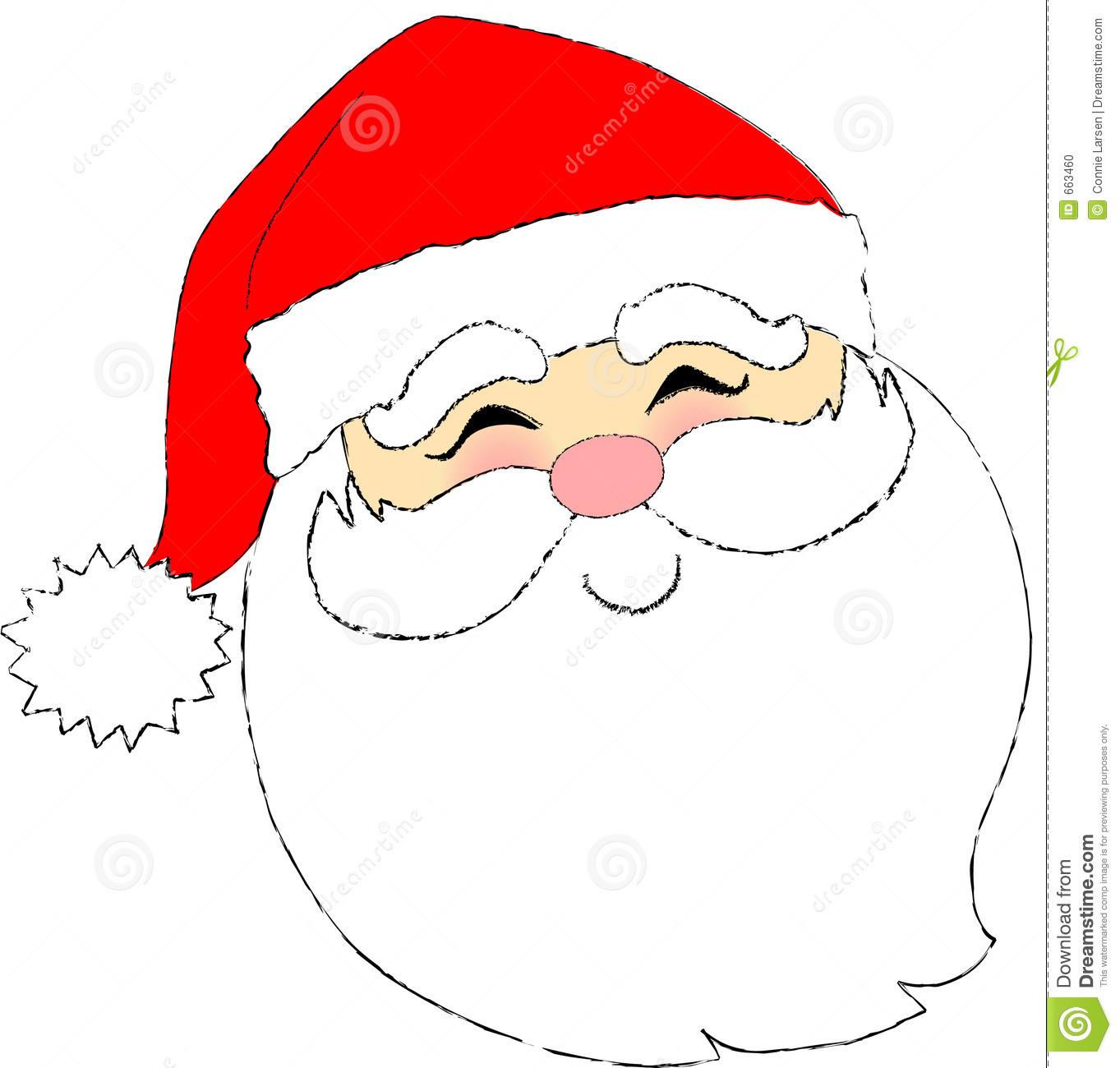 Drawn santa face Craft Santa Christmas Cartoon Santa
