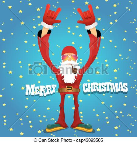 Santa clipart smoking #1