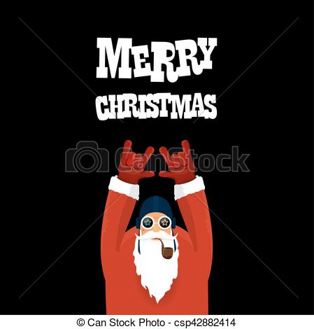 Santa clipart smoking #5