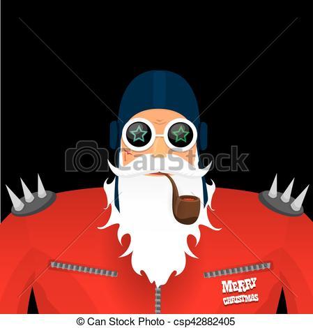 Santa clipart smoking #7