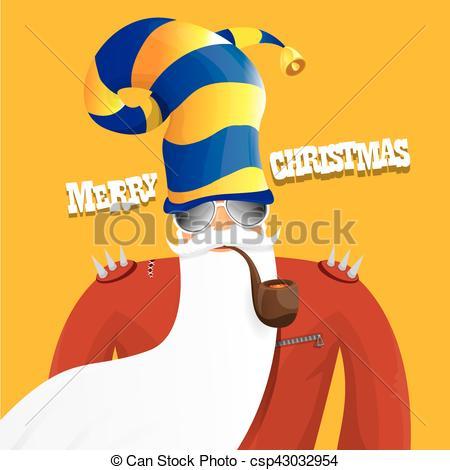 Santa clipart smoking #3