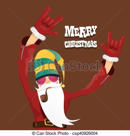 Santa clipart smoking #8