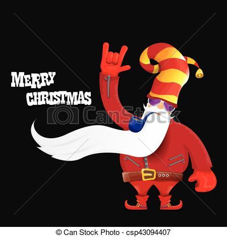 Santa clipart smoking #4