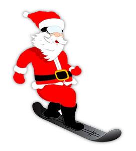 Santa clipart snowboarding #7
