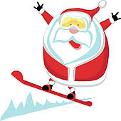 Santa clipart surfing #11