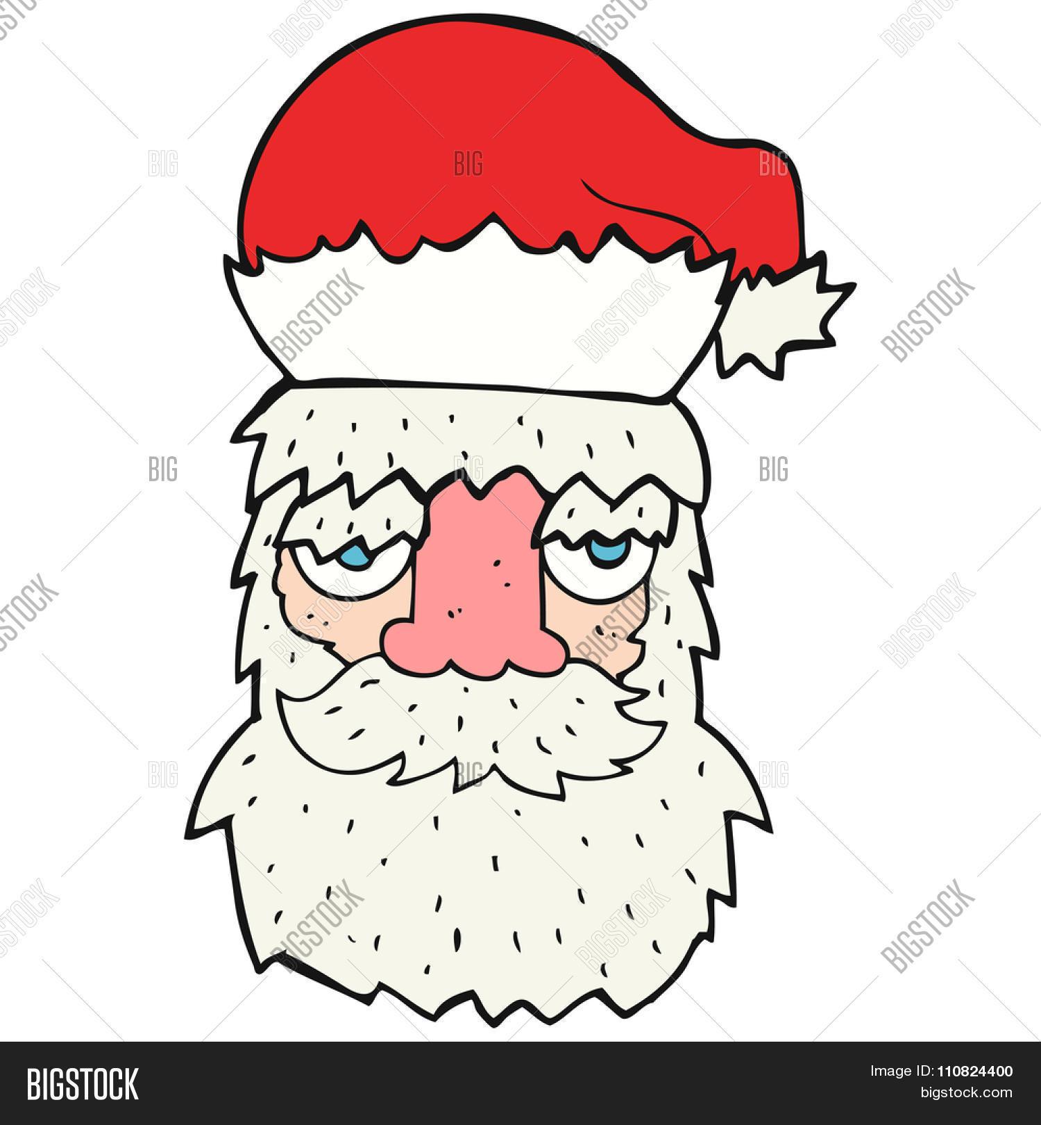 Santa clipart tired #11