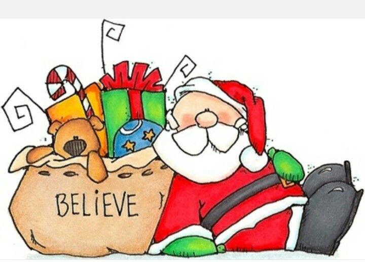 Santa clipart tired #13