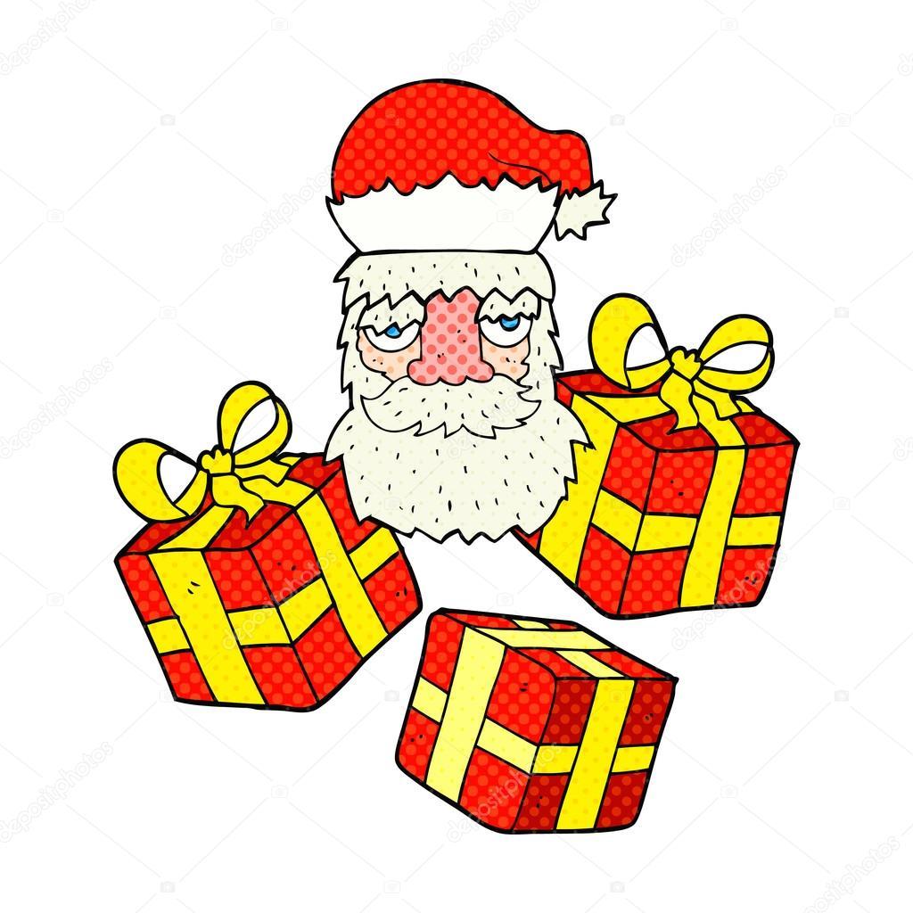 Santa clipart tired #15