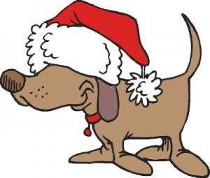 Santa Hat clipart Santa Clip Santa Hat Dog