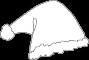 Santa Hat clipart black and white #10