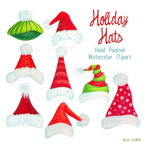 Santa Hat clipart holiday hat #1