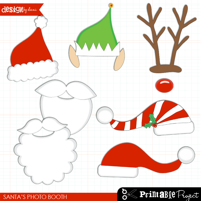 Santa Hat clipart photo booth prop #7