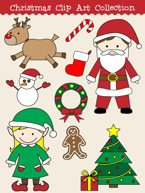 Sanya clipart easy Clip Our that a Christmas