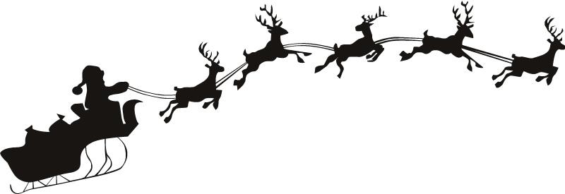 Santa clipart flying #8