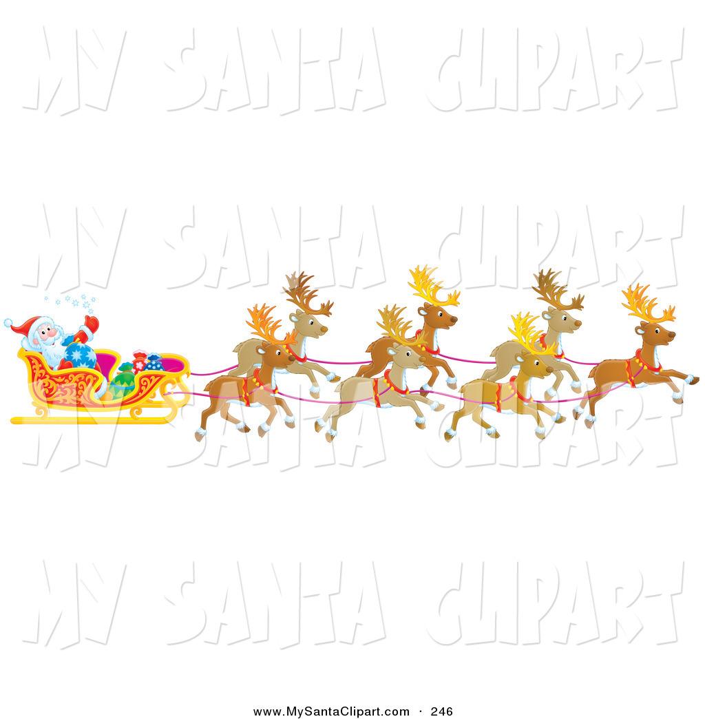 Santa clipart flying #6
