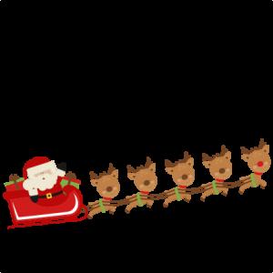 Santa clipart flying #14