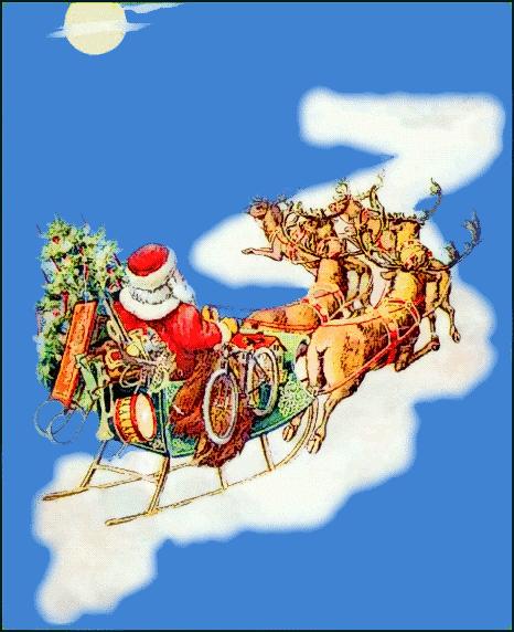 Santa clipart flying #13