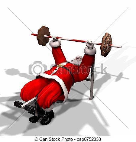 Sanya clipart lifting weight Lifting Santa Humbug Santa flight