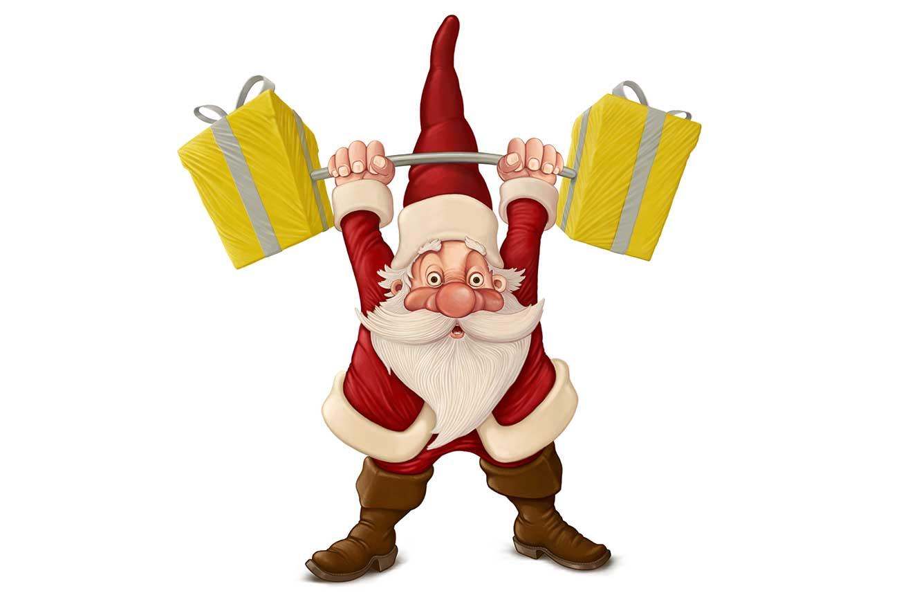 Sanya clipart lifting weight Twas Santa collection The Christmas