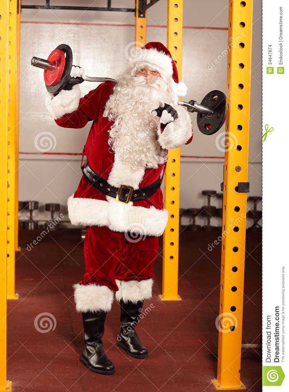 Sanya clipart lifting weight Santa Santa collection Claus In