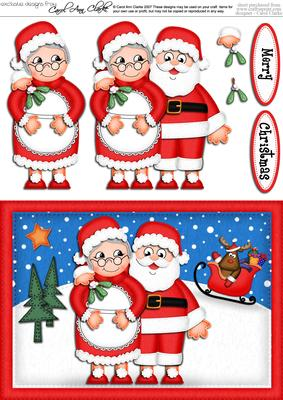 Santa clipart mrs claus #6